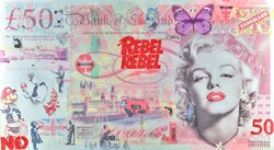 Rebel Rebel by Diederik Van Apple - Mixed Media on Aluminium sized 69x38 inches. Available from Whitewall Galleries